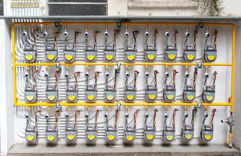 Troca do Quadro de Medidores de Gás   Bigtek Serviços